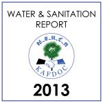 water sanitation report 2013
